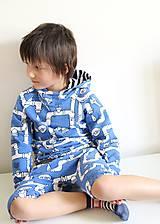 Detské oblečenie - mikina z biobavlny Potrubie - 10707386_