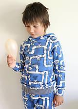 Detské oblečenie - mikina z biobavlny Potrubie - 10707387_