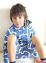 Detské oblečenie - mikina z biobavlny Potrubie - 10707388_