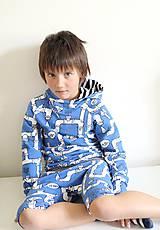 Detské oblečenie - mikina z biobavlny Potrubie - 10707389_