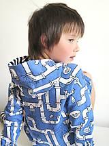 Detské oblečenie - mikina z biobavlny Potrubie - 10707390_