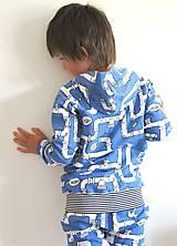 Detské oblečenie - mikina z biobavlny Potrubie - 10707391_