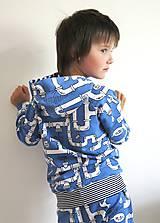 Detské oblečenie - mikina z biobavlny Potrubie - 10707392_