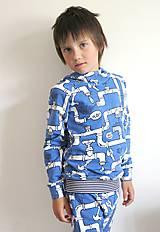 Detské oblečenie - mikina z biobavlny Potrubie - 10707393_