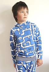 Detské oblečenie - mikina z biobavlny Potrubie - 10707394_