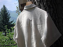 Oblečenie - Pánska ľanová košeľa - natur - 10708174_