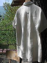 Oblečenie - Pánska ľanová košeľa - natur - 10708178_
