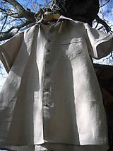 Oblečenie - Pánska ľanová košeľa - natur - 10708180_