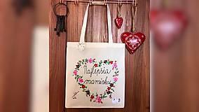 Nákupné tašky - ♥ Plátená, ručne maľovaná taška ♥ (MI3) - 10706065_