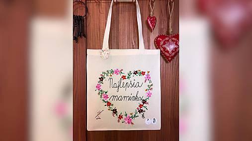 ♥ Plátená, ručne maľovaná taška ♥ (MI3)