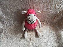 Milá háčkovaná ovečka (Ružová)