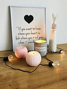 Svietidlá a sviečky - Vrúbkovaná sviečka - 10705968_