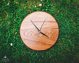 Hodiny - Oak Ring - Dubové drevené hodiny - 10707772_