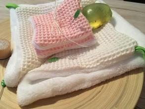 Úžitkový textil - Odličovacie vankúšiky - pampúšiky farba BLEDORUŽOVÁ - 10707971_