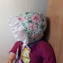 Detské čiapky - čepček kvietky s madeirou - 10705962_