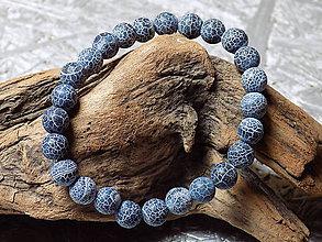 Náramky - Náramok  ....achát indigový praskaný - 10707361_
