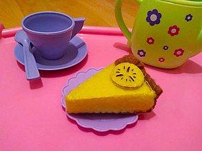 Hračky - Šitý banánový cheesecake - 10705617_