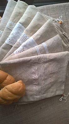 Nezaradené - Konopné vrecká na chlieb a iné potraviny - 10705864_