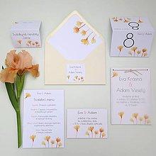 Papiernictvo - Oranžové kvietky - transparentné oznámenie - 10707439_