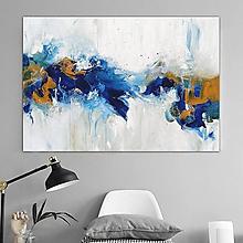 Obrazy - Modrá abstrakcia, 130x90 - 10707320_