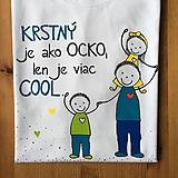 Oblečenie - Originálne maľované tričko s 3 postavičkami (KRSTNÝ +  dievčatko+chlapček) - 10708408_