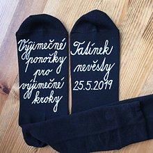 Obuv - Maľované ponožky pre otca nevesty (v češtine) - 10708481_