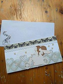 Papier - Svadobná pohľadnica - 10706774_