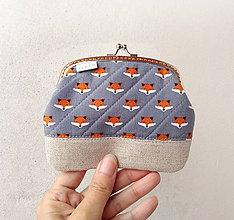 Peňaženky - Peňaženka XL Malé líštičky - 10707462_