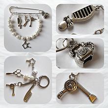 Odznaky/Brošne - Brošnička & kľúčenka pre šikovnú kaderníčku - 10707158_