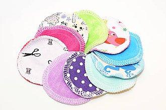 Úžitkový textil - Ekologické Kozmetické tampóny (10 ks) - 10706080_