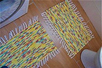 Úžitkový textil - Tkané koberčeky pestré do kúpeľne - 10705867_