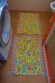 Úžitkový textil - Tkané koberčeky pestré do kúpeľne - 10705883_