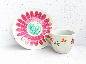 Nádoby - Šálka na kávu - jarná ružová - 10711088_