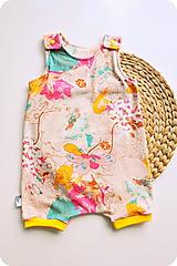 Detské oblečenie - Art flover krátke rompery - 10710814_