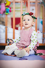 Detské doplnky - Háčkovaný venček pre vílu - 10709058_