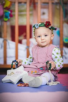 Detské doplnky - Háčkovaný venček pre vílu - 10709051_