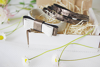 Náramky - Kožené náramky - 10710239_