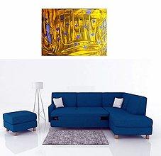 Obrazy - Modré kvietky - 10711552_