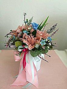 Dekorácie - Kvetinkový kochlík - 10709959_