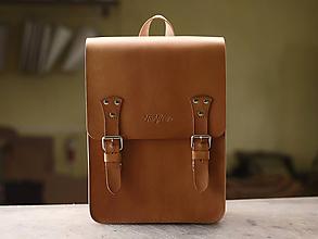 Batohy - Kožený batoh Viliam - 10709225_