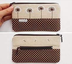 Peňaženky - Peňaženka vyšívaná - Púpavky - 10709833_