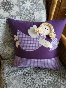Úžitkový textil - Vankúš s anjelom - 10710114_