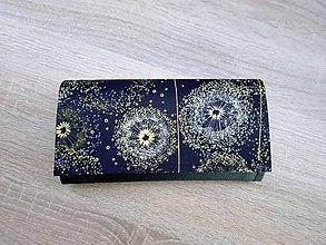 Peňaženky - Peňaženka na 12 kariet, koženka, bavlna - 10709535_