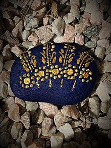 Dekorácie - Maľovaný kameň -