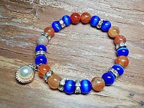 Náramky - Náramok dovolenkový s perlou - 10709365_