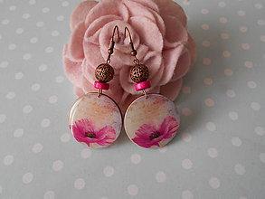 Náušnice - Ružový kvietok II. - 10711012_