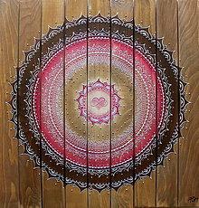 Obrazy - Mandala LÁSKA A HARMÓNIA (drevo) 60 x 60 - 10710494_