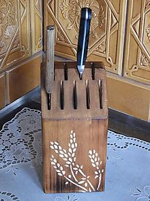 Pomôcky - Rustikální stojan na 9 nožů - 10709073_