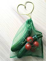 Úžitkový textil - Nákupné eko vrecko - stredné zelené (1 ks) - 10709484_