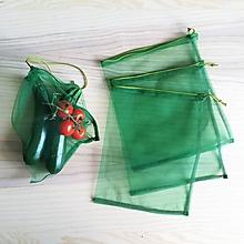 Úžitkový textil - Nákupné eko vrecko - stredné zelené - 10709494_